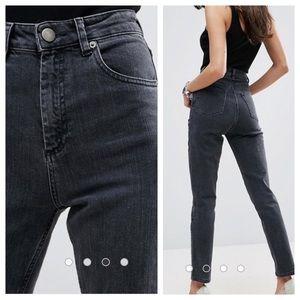 ASOS Farleigh High Waist Slim Mom Jeans, 26 x 30